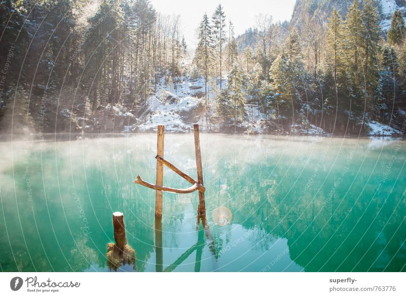 Nature Blue Green Water Relaxation Loneliness Landscape Calm Winter Spring Snow Wood Lake Park Contentment Ice