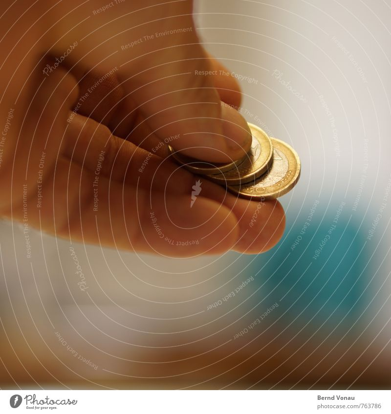 Human being Man Blue Hand Adults Gray Brown Metal Masculine Gold Fingers Money Silver Paying Give Coin