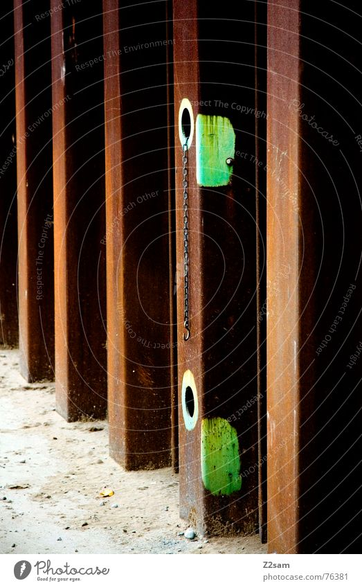 Old Green Colour Brown Glittering Perspective Industrial Photography Factory Broken Rust Hollow Graphic Tin Abstract