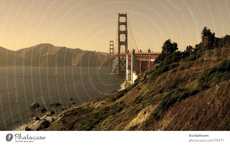 The gateway to the world Golden Gate Bridge San Francisco California Calm Coast
