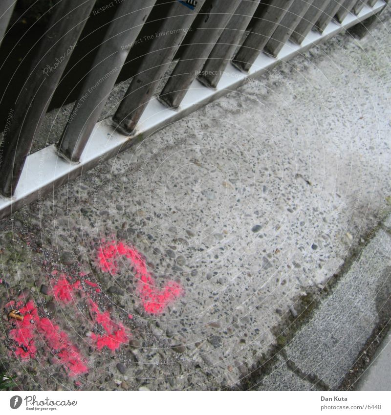 Colour Gray Metal Signs and labeling Bridge Gloomy Floor covering Neon light Curbside Spray