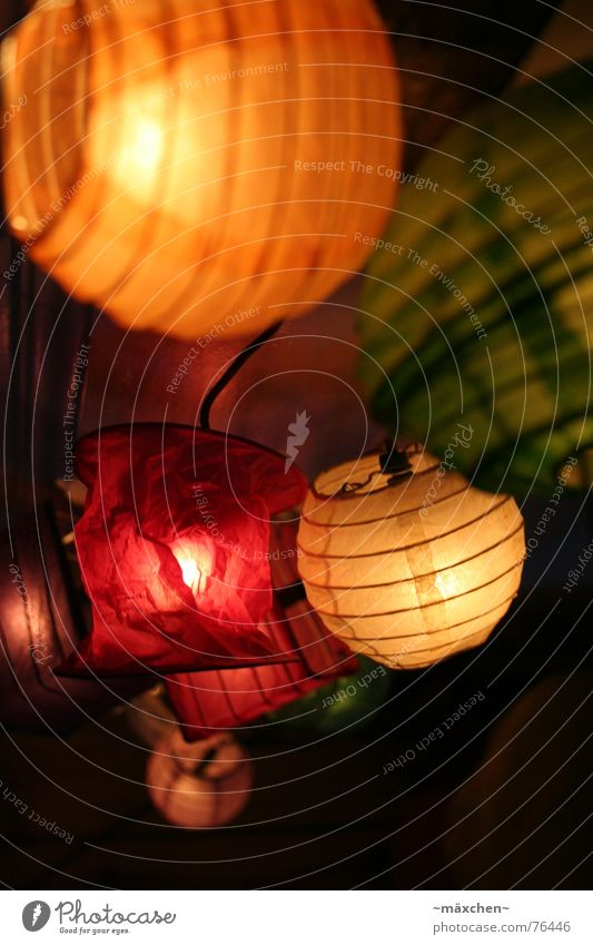 Red Orange Lantern Fairy lights Lampion