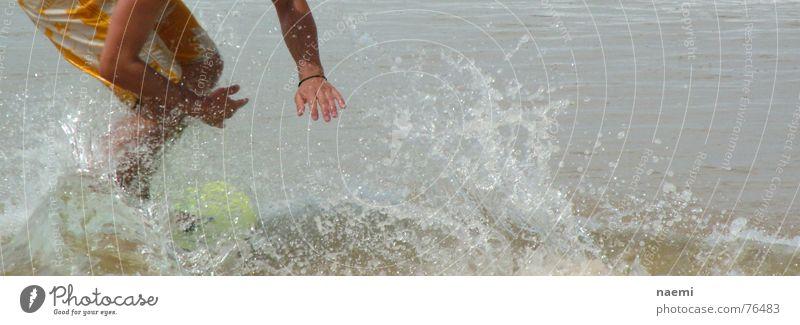 water glider Waves Ocean Surfboard Summer Man Water Drops of water Surfing