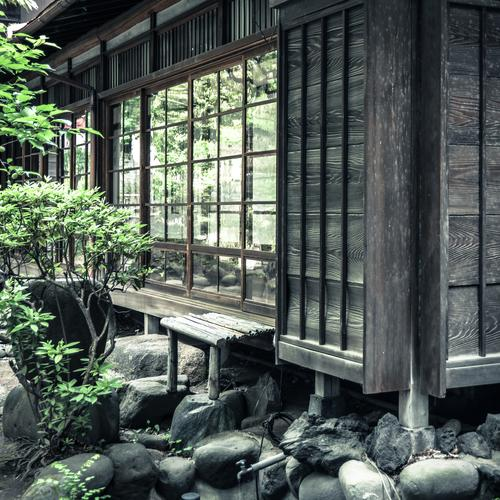 Japanese house House (Residential Structure) Detached house Manmade structures Building Architecture Wall (barrier) Wall (building) Facade Garden Window Exotic