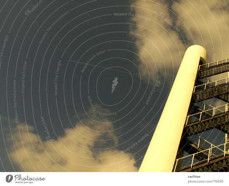 Crazy Perspective Tilt Diagonal Steep Fire ladder Florida Apollon Stair tower Cape Canaveral