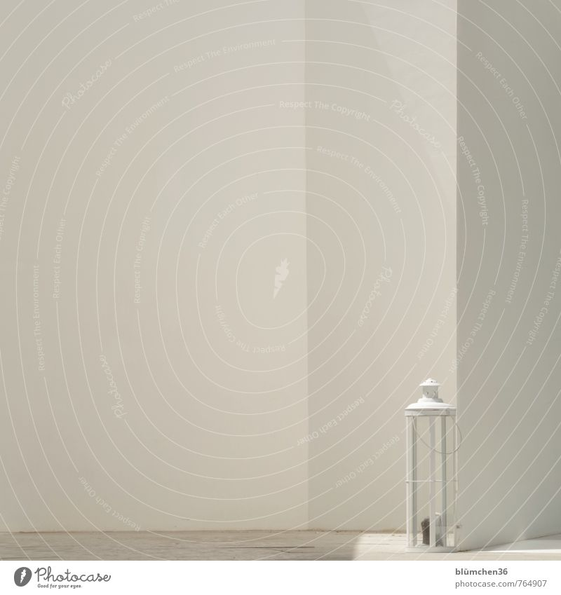 White Calm Wall (building) Lighting Wall (barrier) Building Bright Moody Facade Elegant Illuminate Decoration Simple Candle Lantern Portugal