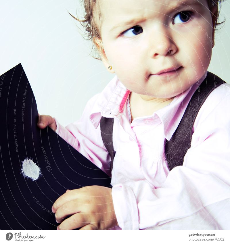 Child Girl Beautiful Black Eyes Colour Hair and hairstyles Head Baby Funny Small Paper Sweet Point Cute Ask