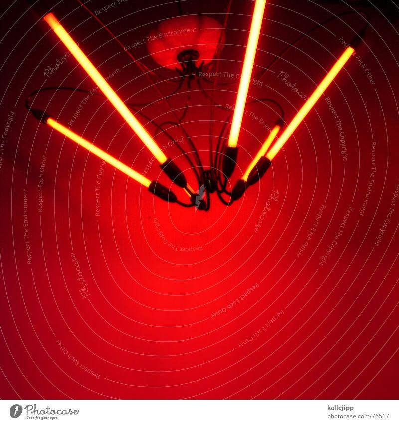 Red Lamp Bright Art Backyard Neon light Chandelier Ceiling light Cellphone camera