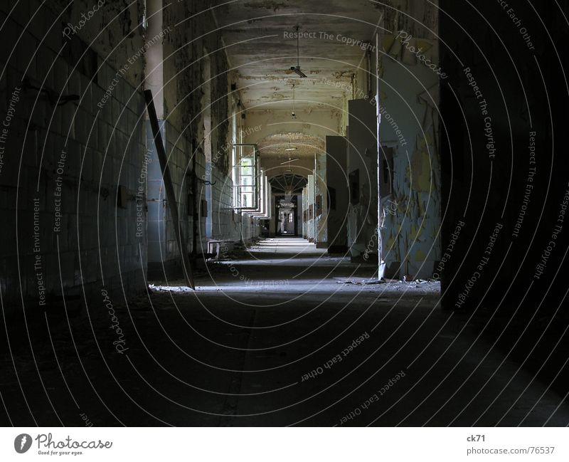 Old Colour Window Dark Bright Door Open Empty Grief Hallway Forget