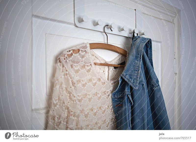 wardrobe Lifestyle Style Fashion Clothing Dress Jacket Jeans jacket Esthetic Hip & trendy Clothes peg Hanger Car door Colour photo Interior shot Deserted Day