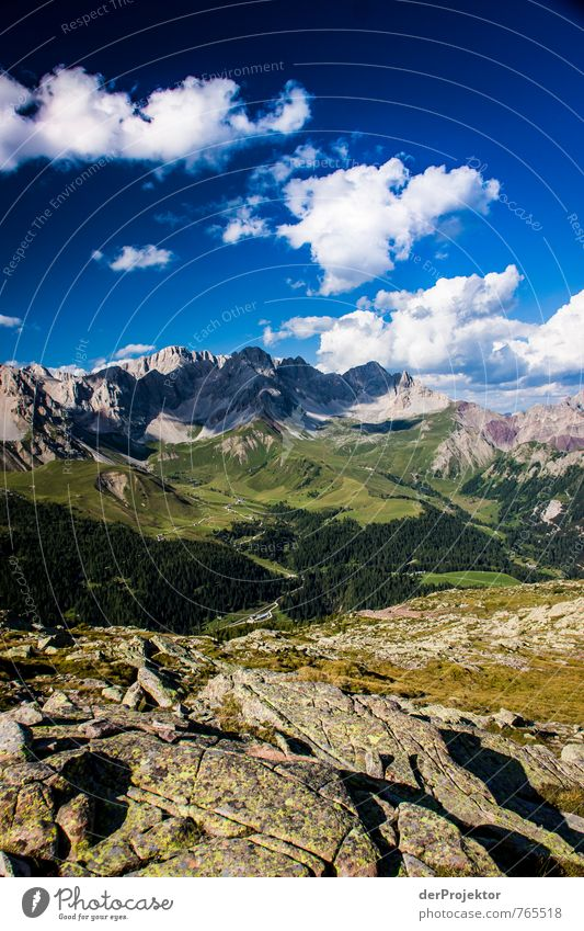 Dolomites full panorama Vacation & Travel Tourism Trip Adventure Far-off places Freedom Summer vacation Mountain Hiking Environment Nature Landscape Plant