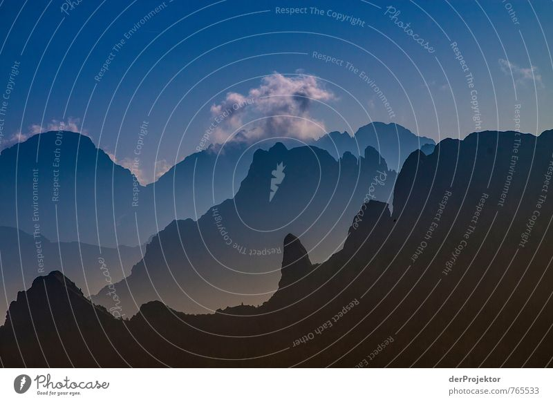 Dolomites in silhouette view Vacation & Travel Tourism Trip Adventure Far-off places Freedom Summer vacation Mountain Environment Nature Landscape Plant