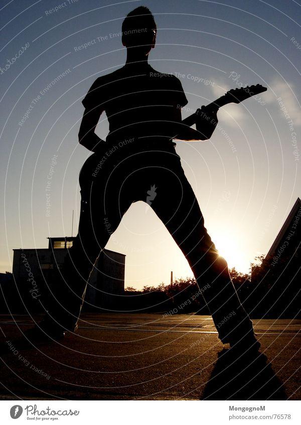 Sky Sun Clouds Music Rock music Guitar Rock'n'Roll Guitarist Rocker