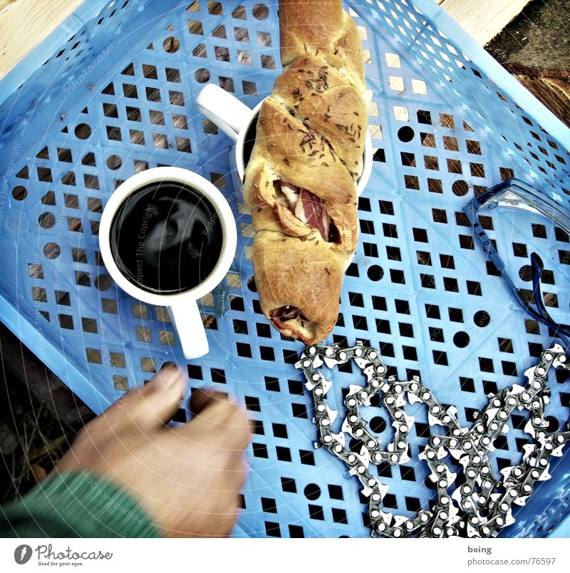 Wood Break Coffee Industry Drinking Herbs and spices Working man Saw Cup Restaurant Craft (trade) Chain Meal Grasp Brunch Firewood