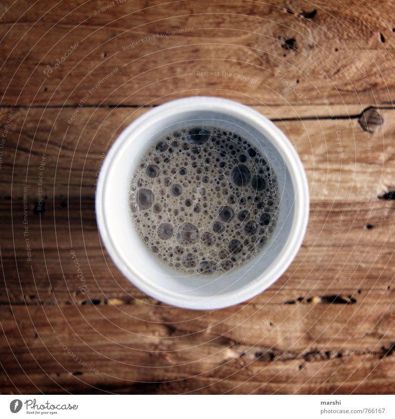 Emotions Eating Moody Food Nutrition Beverage Drinking Coffee Strong Opinion Bubble Wooden table Espresso Coffee break Latte macchiato To have a coffee