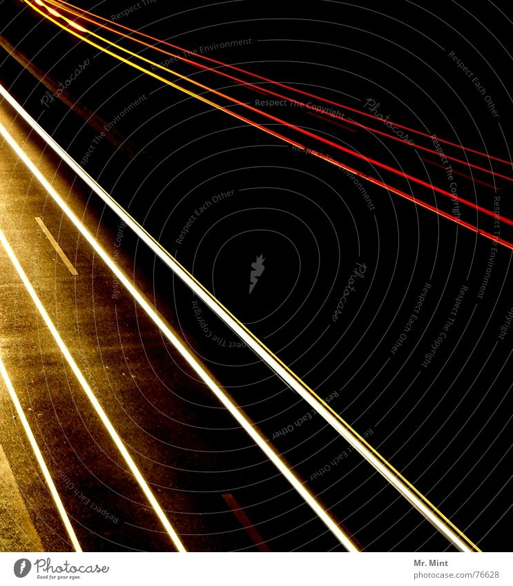 Light... and gone. Highway Night Dark Speed Rear light Long exposure Evening Tracks Distorted Floodlight