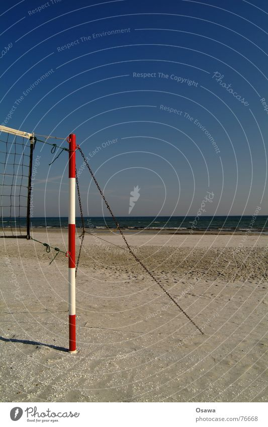 Echo of Summer 1 Summer vacation Beach vacation Volleyball (sport) Volleyball net Volleyball court Lake Ocean Red Striped Sky blue Vacation & Travel Sports