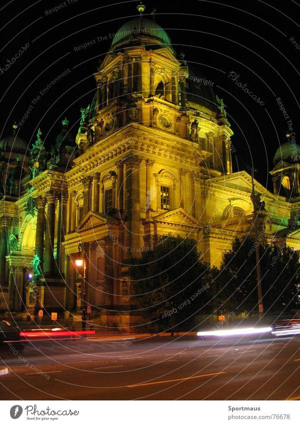 Berlin illuminated Light Building Town night berlin dom citylights Street