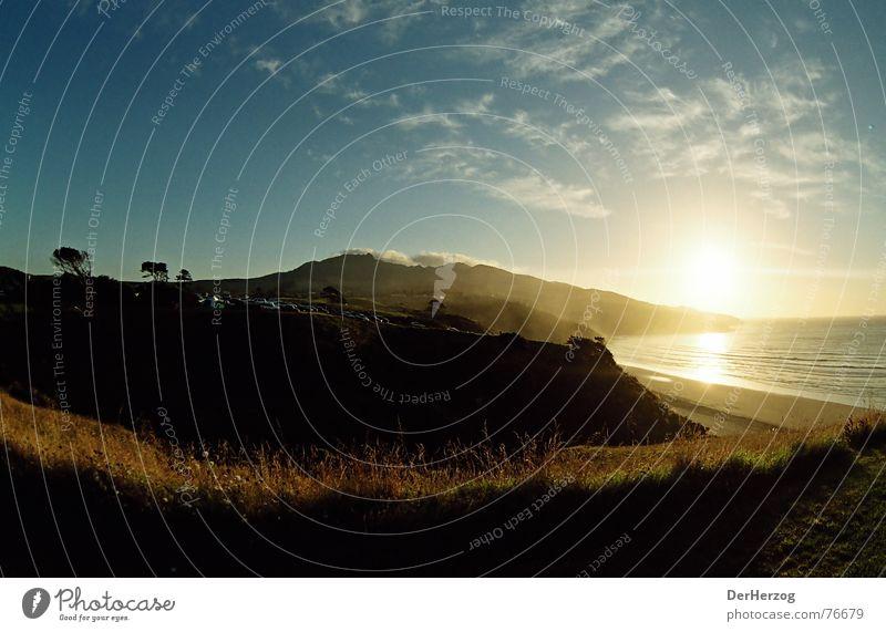 Sky Sun Ocean Summer Clouds Grass Waves Bay Dusk New Zealand Breeze Sunset Raglan
