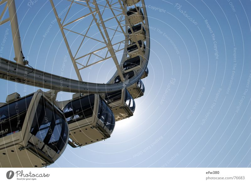 Sun Dresden Blue sky Ferris wheel
