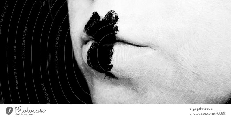 lip service Lips Confession Make-up White Black Pantomimist Woman Young lady Heart-shaped Mouth