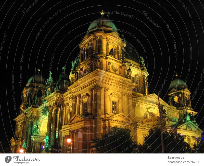 City Berlin Building Lighting Berlin Cathedral