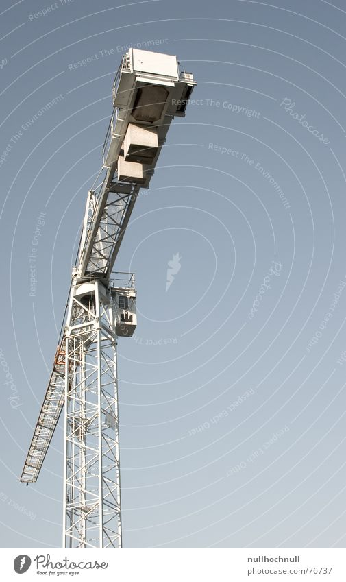 crane Crane Steel Exterior shot Worm's-eye view Sky Blue Beautiful weather Industrial Photography Metal