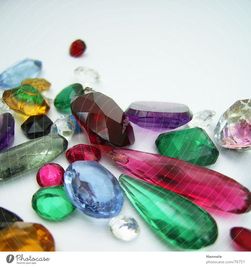 valuable kitsch Precious stone Multicoloured Synthesis Pink Green Red Glittering Yellow Polished section Ruby Emerald Garnet Expensive Jewellery Stone Blue