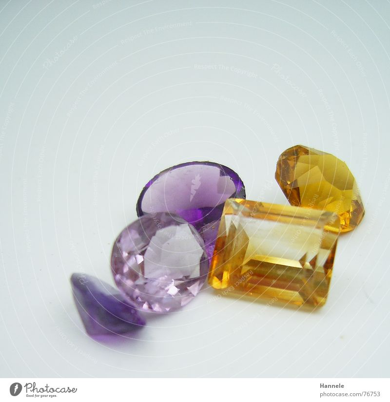 expensive kitsch in complementary Precious stone Multicoloured Synthesis Violet Glittering Yellow Polished section Jeweller Minerals Carat Stone Blue