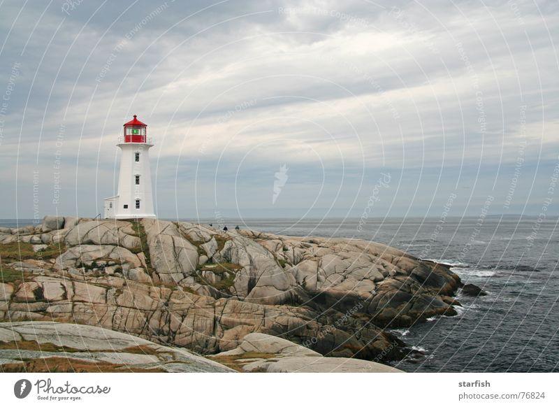 Ocean Clouds Rock Gale Canada Lighthouse Surf Atlantic Ocean Halifax