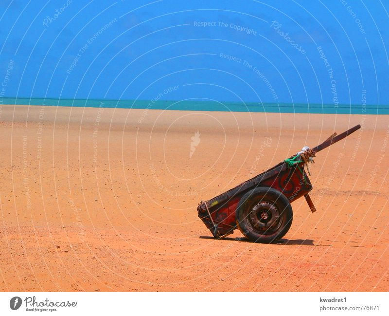 Sky Beach Sand Horizon Lifestyle Brazil Carriage Cart