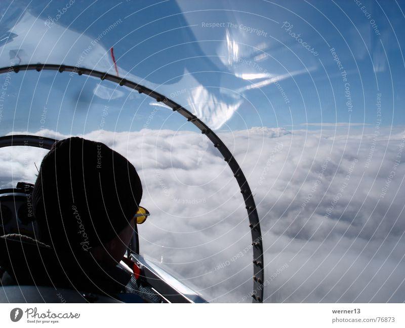 Clouds Waves Flying Horizon Flying sports Gliding Blaník