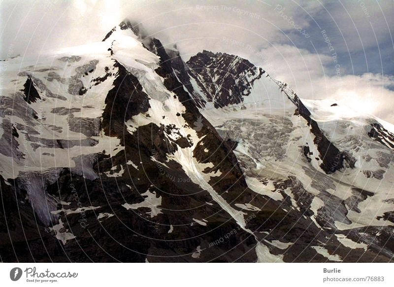 Großglockner Glacier Loneliness Impassable Peak Mountain Snow Ice Sky