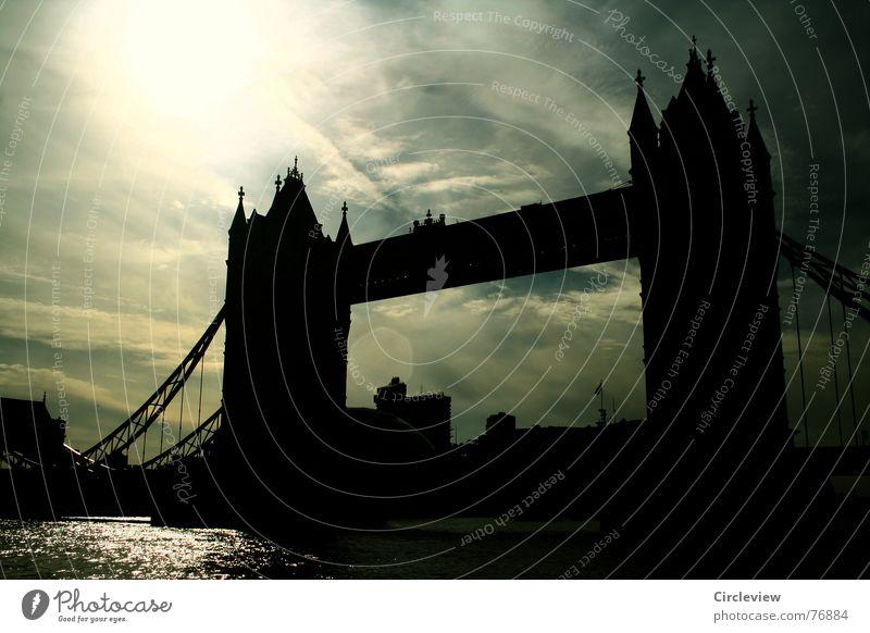 Water Sky Sun Black Clouds Dark Moody Bright Bridge Tourism Tower Monument Light London Landmark England