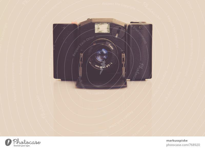 analog compact camera Lifestyle Luxury Elegant Style Design Joy Profession Take a photo Camera Objective Housing Old Retro Past Analog Lightning Technology
