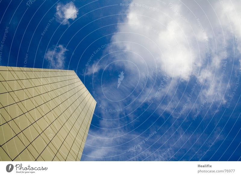 Sky Blue City Clouds House (Residential Structure) Business Line Work and employment Tall High-rise Roof Level Mask Story Construction