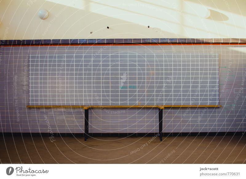 Line information Architecture Neoclassicism Prenzlauer Berg Wall (building) Station hall Information Counter Sharp-edged Historic Retro Nostalgia Symmetry Past