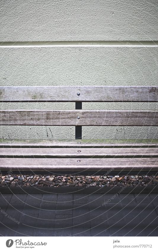 bench Wall (barrier) Wall (building) Facade Bench Dark Gloomy Town Colour photo Exterior shot Deserted Day Light Shadow