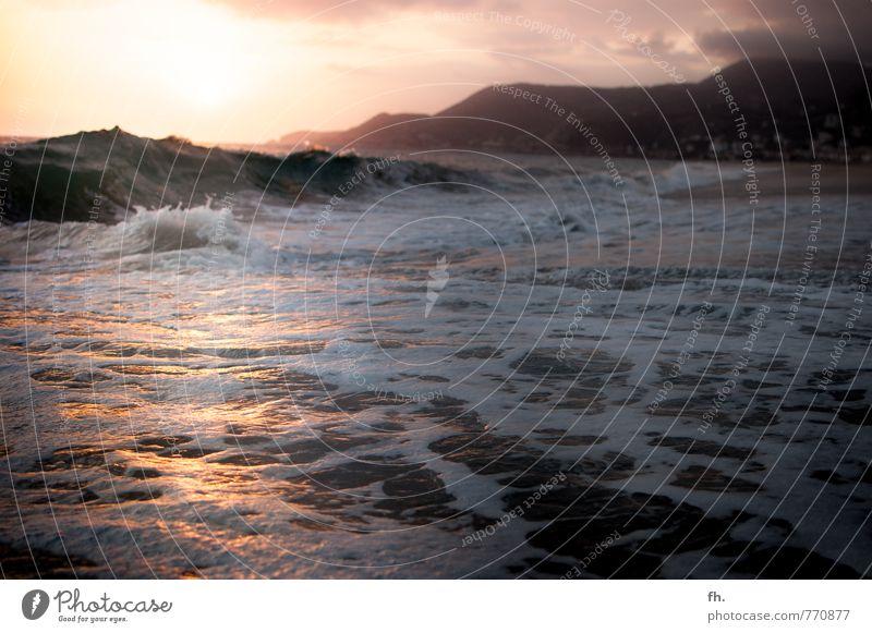 Sky Nature Water Summer Ocean Beach Dark Coast Earth Waves Authentic Beautiful weather Beginning To enjoy Break Curiosity