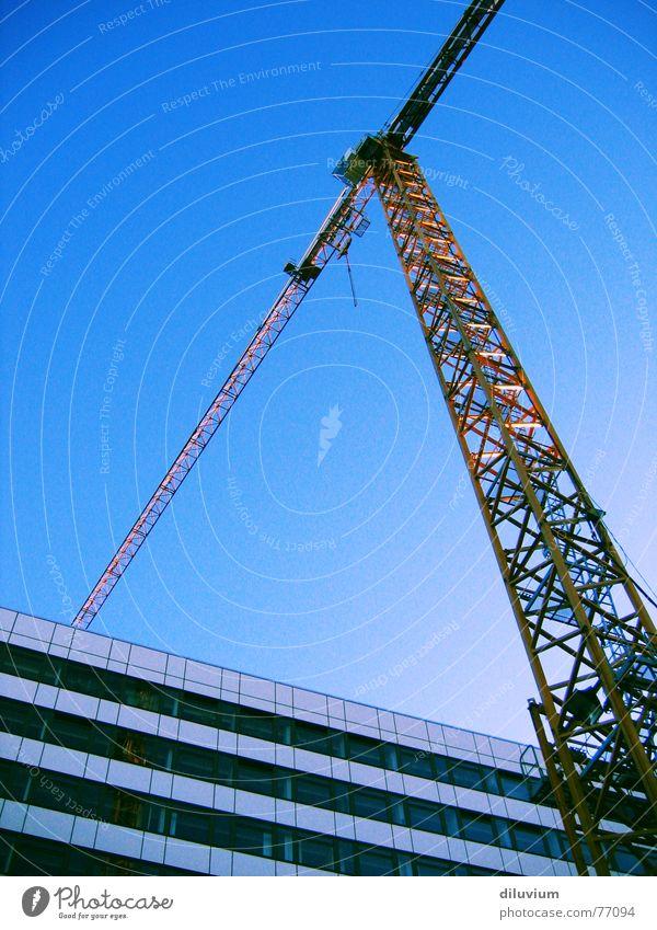 Sky Blue Yellow Far-off places Line High-rise Horizon Tall Stripe Crane Triangle