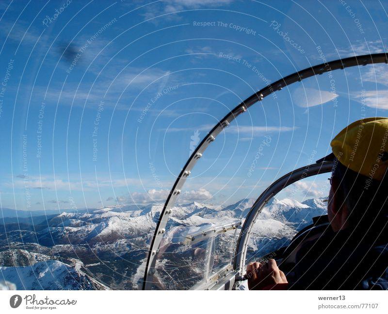 Gliding in Blanik Cockpit Clouds Austria Blaník Mountain Freedom Snow