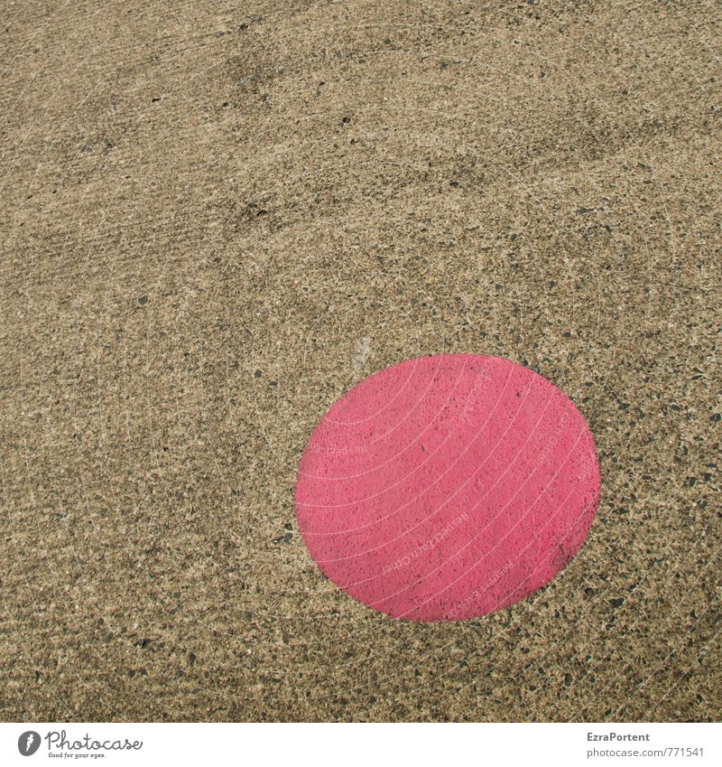 on the dot Leisure and hobbies Transport Traffic infrastructure Street Lanes & trails Concrete Sign Signage Warning sign Esthetic Gray Pink Red Black Asphalt