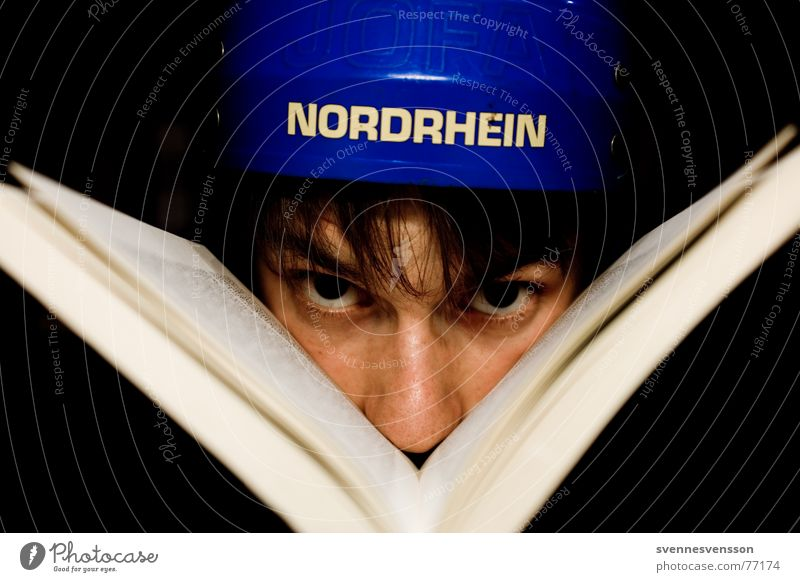 Human being Face Eyes Colour Hair and hairstyles Book Nose Side Helmet Protective headgear