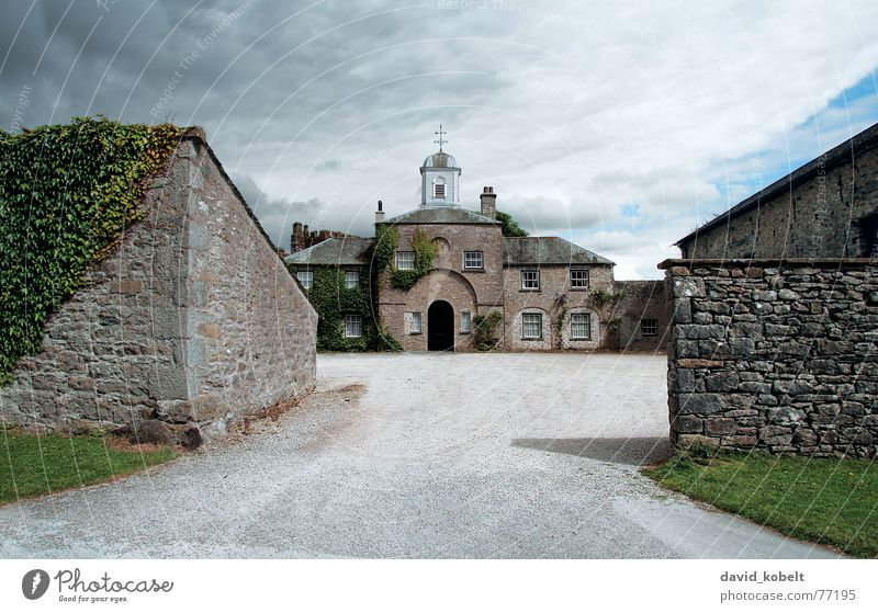 Sky Clouds Stone Wall (barrier) Moody Door Weather Tower Farm Castle Gate Luxury Monument Historic Entrance Landmark