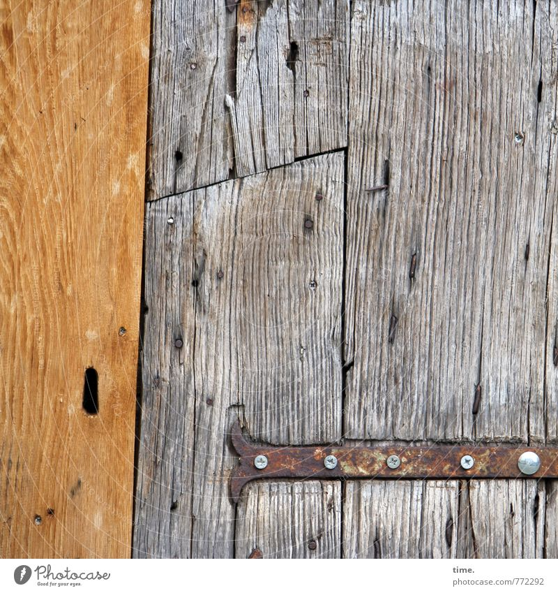 Wine warehouse, probably Door Hinge Screw Door lock Wood grain Old Historic Original Crazy Wild Inspiration Ease Problem solving Nostalgia Decline Past