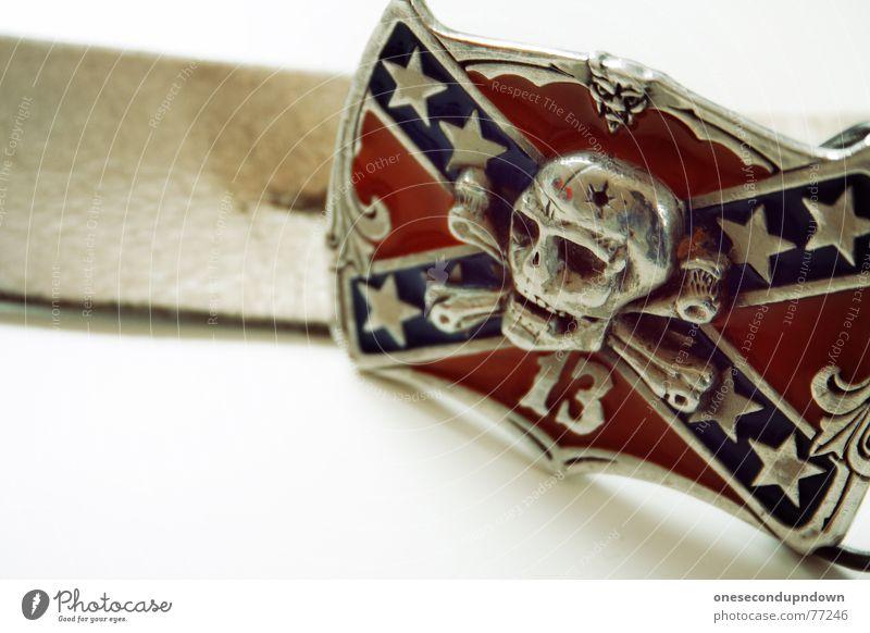 Blue Red Death Art Glittering 3 Wild animal Star (Symbol) Clothing Culture Silver Ornament Skeleton Quality Belt Punk rock