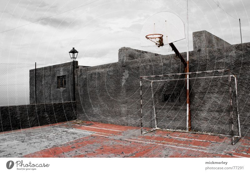 basketball court La Palma Places Wall (barrier) Basketball Trashy Old football