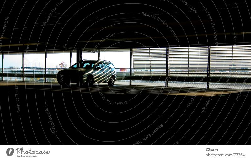 tg_light Light Underground garage Park Parking Parking garage Fröttmaning Allianz Arena Sunbeam Roller blind Window Car Lighting Shadow
