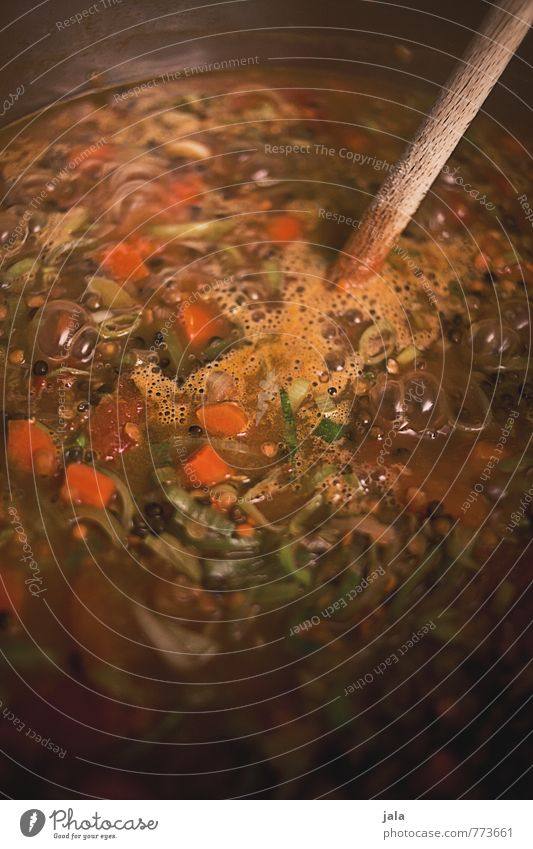 stew Food Vegetable Stew Lentils Leek vegetable Carrot Tomato Nutrition Lunch Dinner Organic produce Vegetarian diet Pot Wooden spoon Delicious Cooking bubble