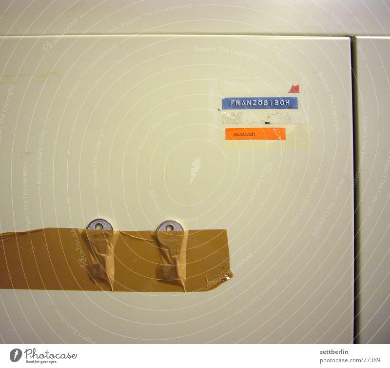 Blue Gray Brown Orange Metal Adhesive Moving (to change residence) France Russia Key Cupboard Preparation Adhesive tape Locker